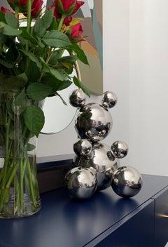 Bear, stainless steel sculpture 2.0