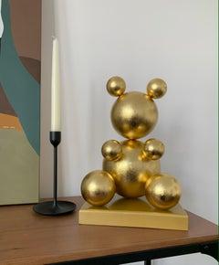 Gold Leaf Imitation 1.0 Metal Bear, 2021