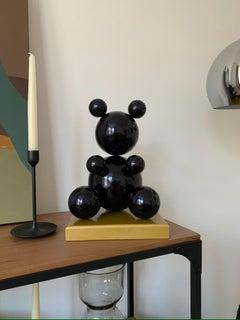 Black Leaf Imitation Metal Bear Sculpture (Wet Effect) 2021