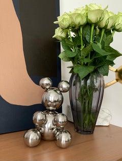XSmall Bear, stainless steel sculpture