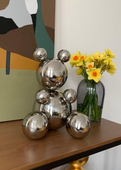 Middle Bear, stainless steel sculpture 5.0