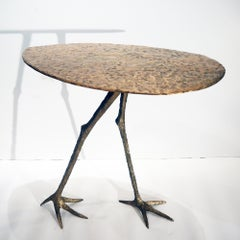 Fantasy, side table, in bronze