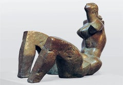 Awakening . Sculpture Bronze Nude Woman Interior Modern