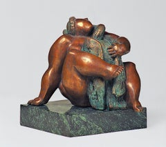 Leda and the Swan . Sculpture Bronze Nude Woman Interior Modern