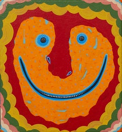 Staying Positive while Void Gazing - smile, red, orange, mustard, blue, green