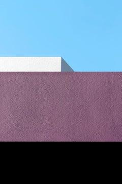 Newtown - focuses on mundane urban landscape, Photographic, purple, blue, white.
