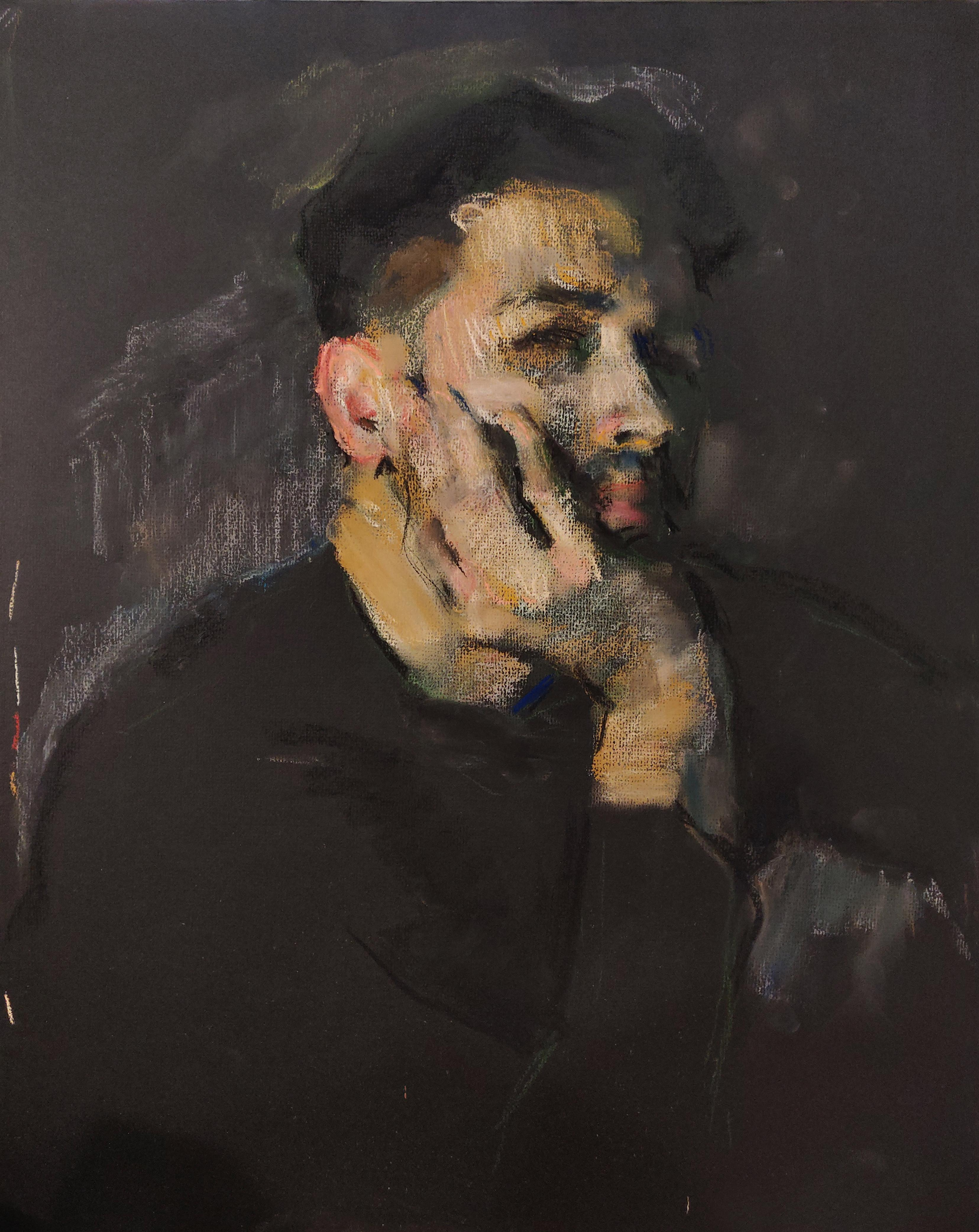 Self-Portrait - Samir Rakhmanov 21st Century Contemporary Pastel Master Drawing