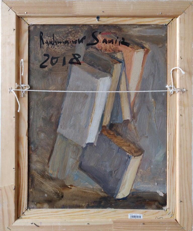 Still Life With Books - Samir Rakhmanov 21st Century Contemporary Oil Painting  For Sale 2