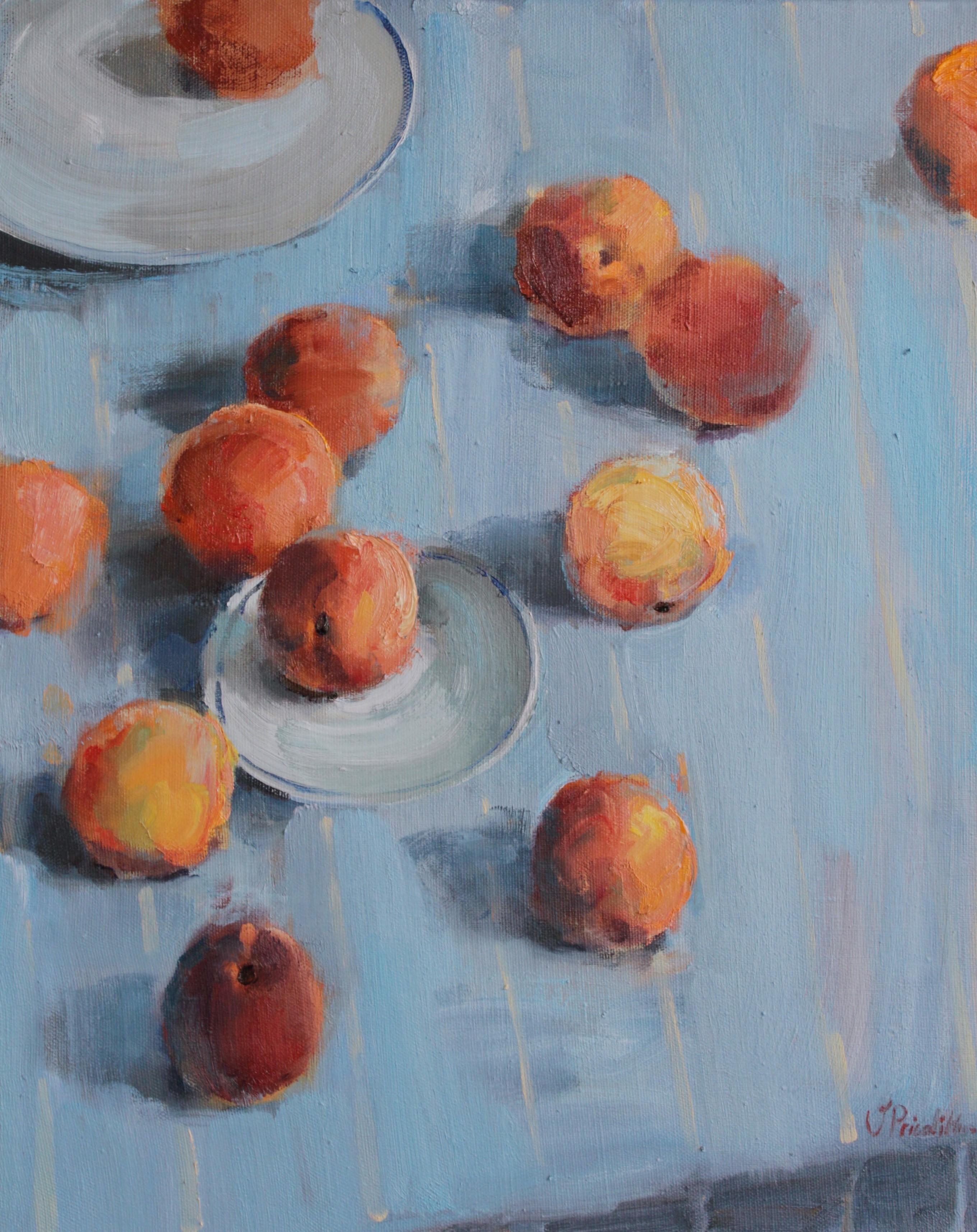 Peaches - Valeria Privalikhina 21st Century Contemporary Oil Painting Still Life