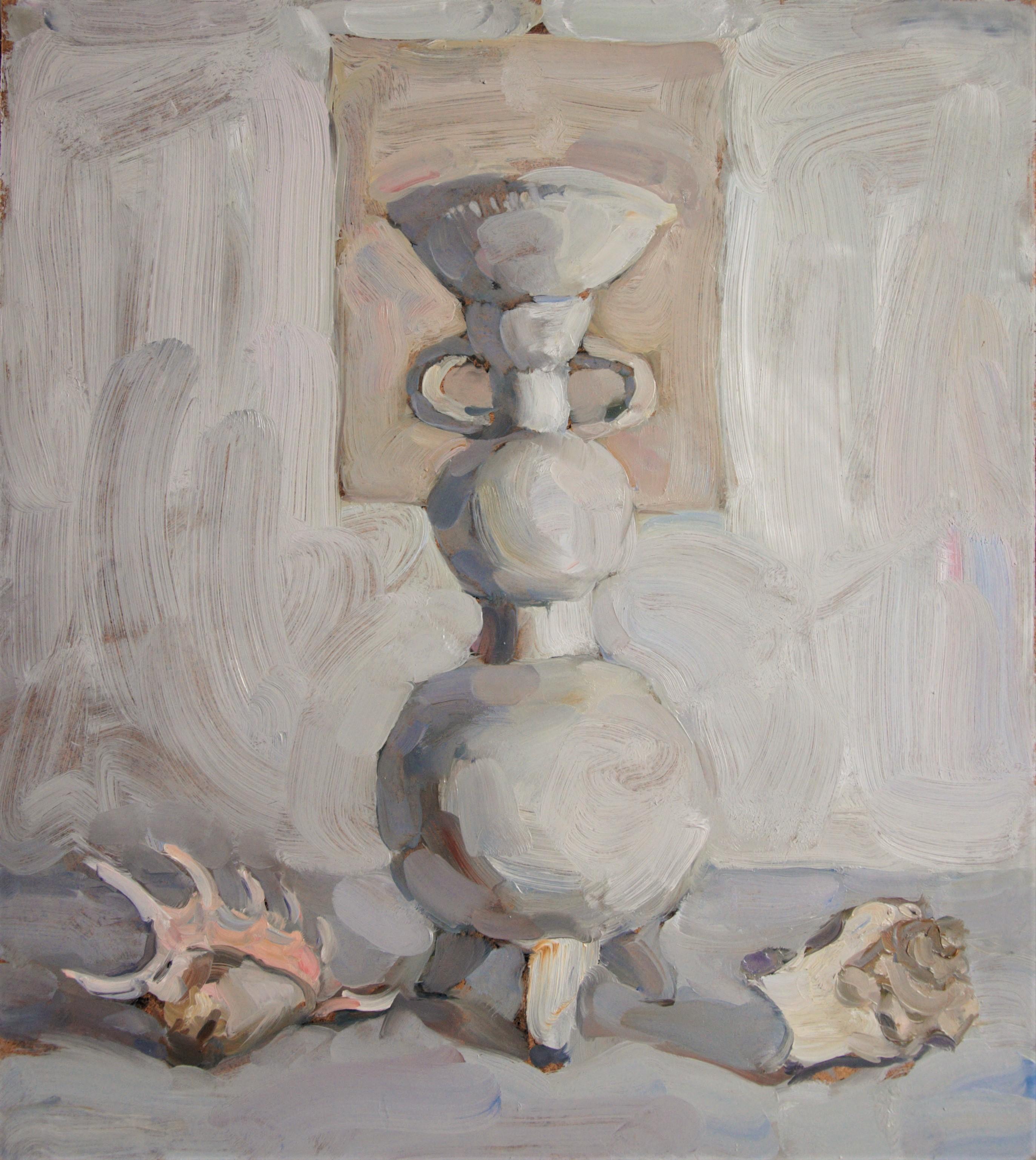 White Still Life - Yaroslava Tichshenko 21st Century Contemporary Oil Painting