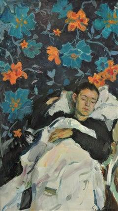 Dream - Yaroslava Tichshenko 21st Century Contemporary Oil Painting Sleep Figure