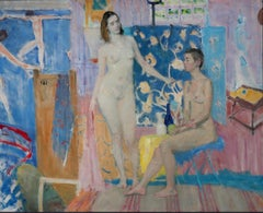 Nudes After Matisse - 21st Century Contemporary Oil Painting Impressionism