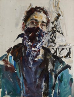 Self-Portrait in Quarantine - 21st Century Contemporary Oil Painting