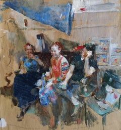"Sketch ""Friends"" no.2 - 21st Century Contemporary Impressionist Oil Painting"