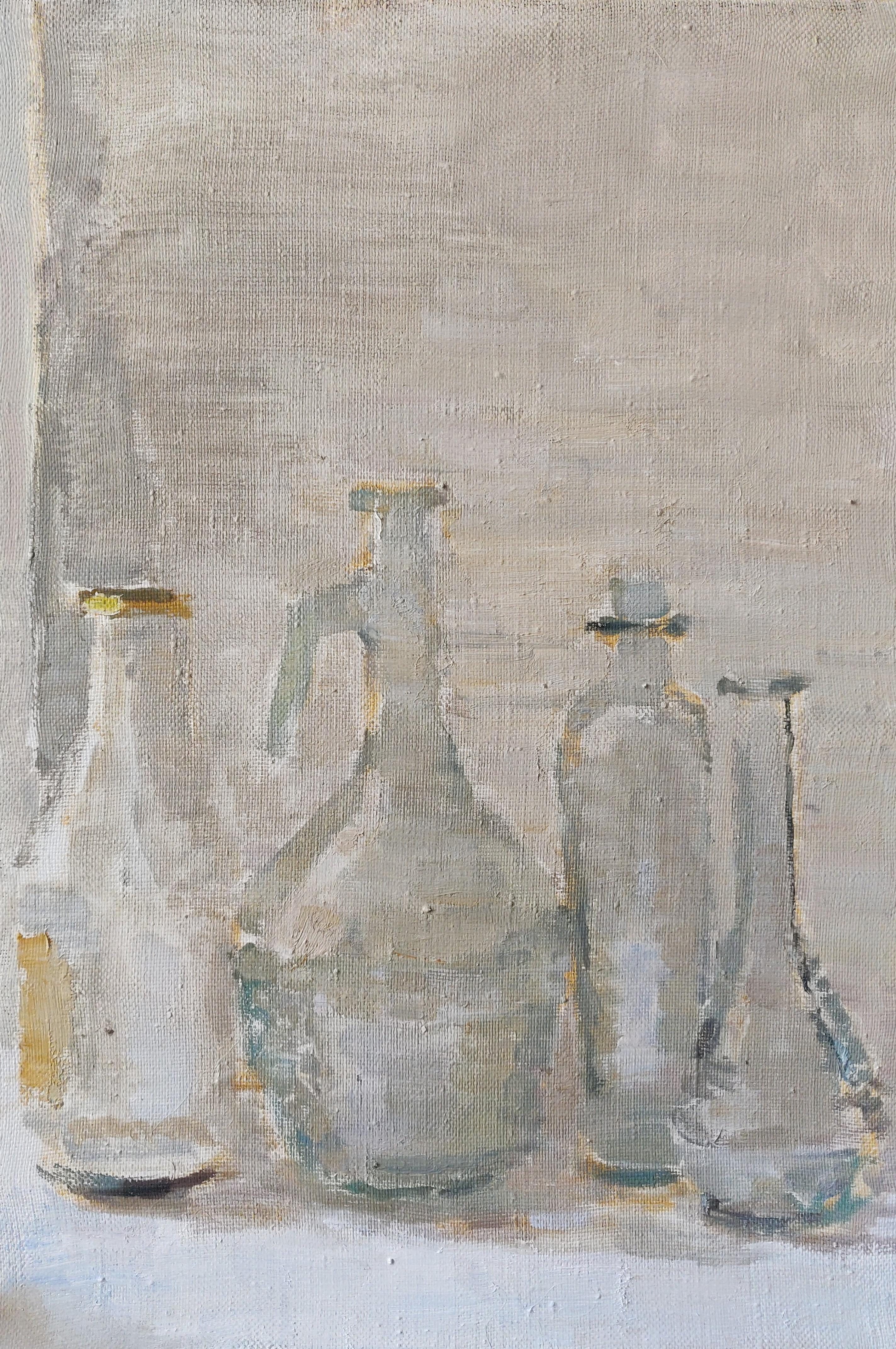 Still Life With Glass Vessels - 21st Century Contemporary Oil Painting