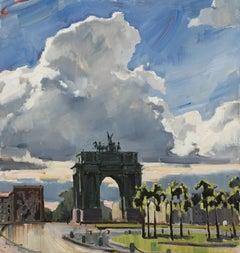 After the Rain - 21st Century Contemporary Oil Lanscape Triumphal Arch Painting