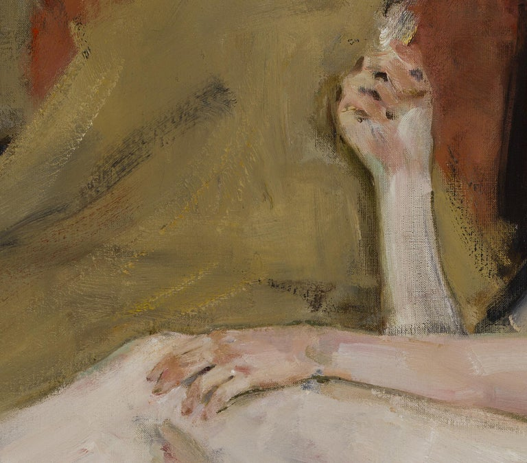 Nude - 21st Century Contemporary Classical Realist Reclining Nude Oil Painting For Sale 3