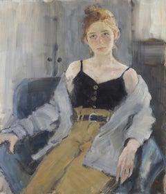 Valeria. Quarantine - 21st Century Contemporary Oil Portrait Painting