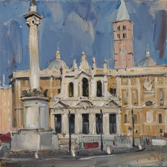 Santa Maria Maggiore in Rome - 21st Century Contemporary Oil Painting