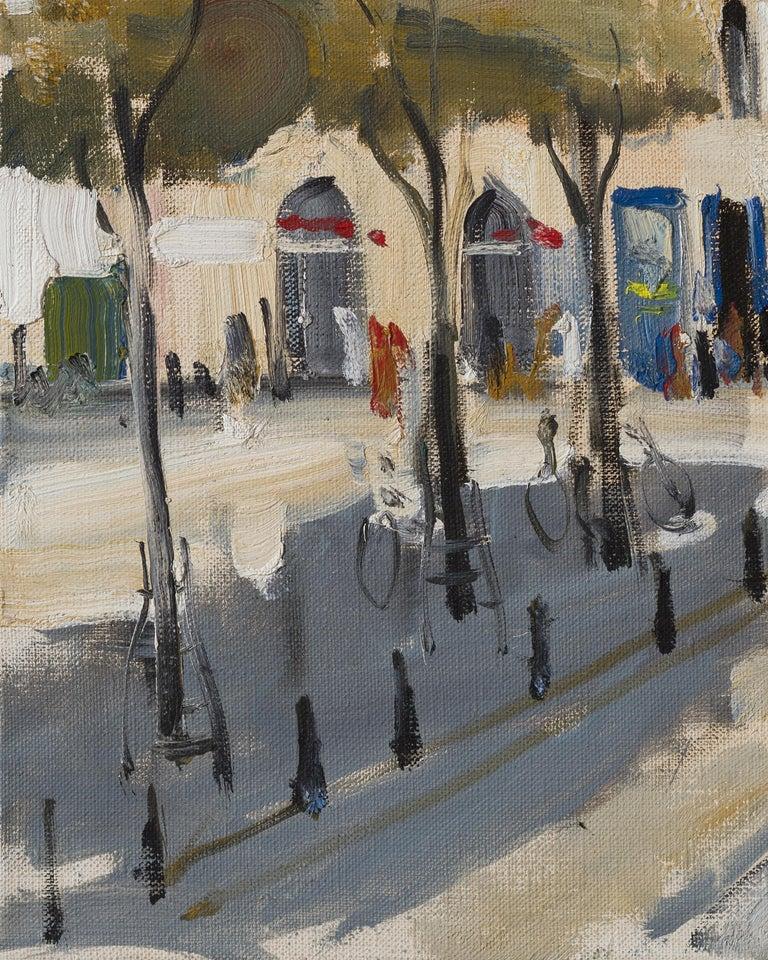 Paris. Place Dauphine - 21st Century Contemporary Urban Landscape Oil Painting For Sale 2