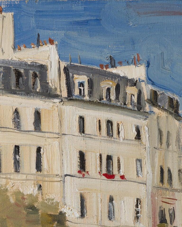 Paris. Place Dauphine - 21st Century Contemporary Urban Landscape Oil Painting For Sale 1