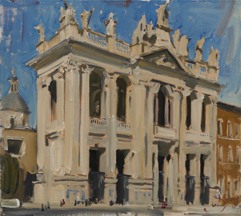 Basilica di San Giovanni in Laterano - 21st Century Contemporary Rome Painting