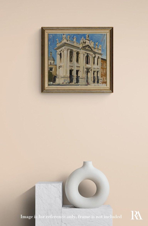 Basilica di San Giovanni in Laterano - 21st Century Contemporary Rome Painting For Sale 2