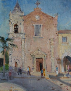 Forza d'Agro - 21st Century Contemporary Impressionist Italy Landscape Painting