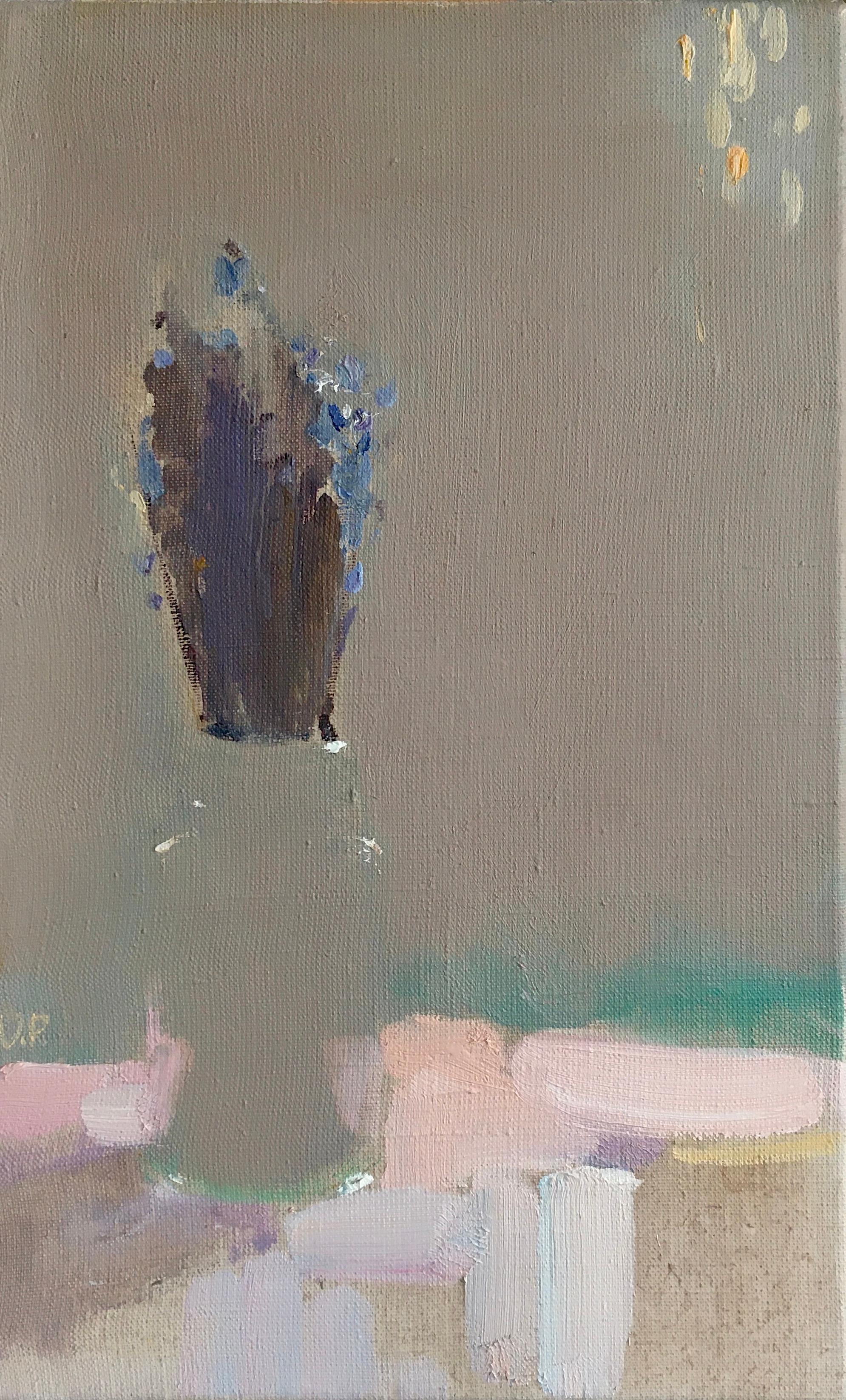 Lavender - 21st Century Contemporary Impressionist Minimalist Oil Painting