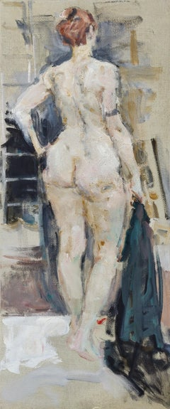 Nude - 21st Century Contemporary Classical Academic Figure Oil Painting