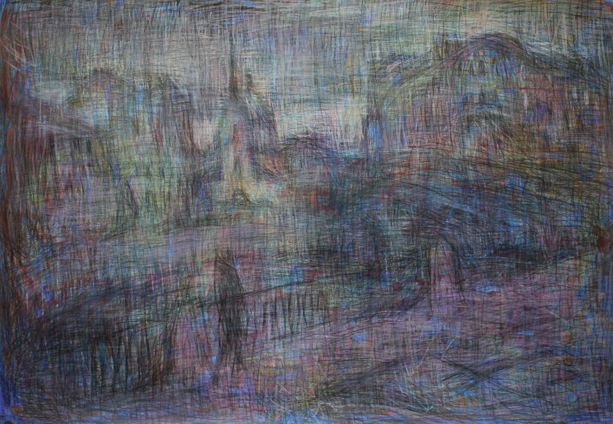 Into the White Night - 21st Century Contemporary Expressionist Urban Drawing