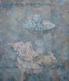 Still Life With Seashells and Roses - 21st Century Contemporary Oil Painting