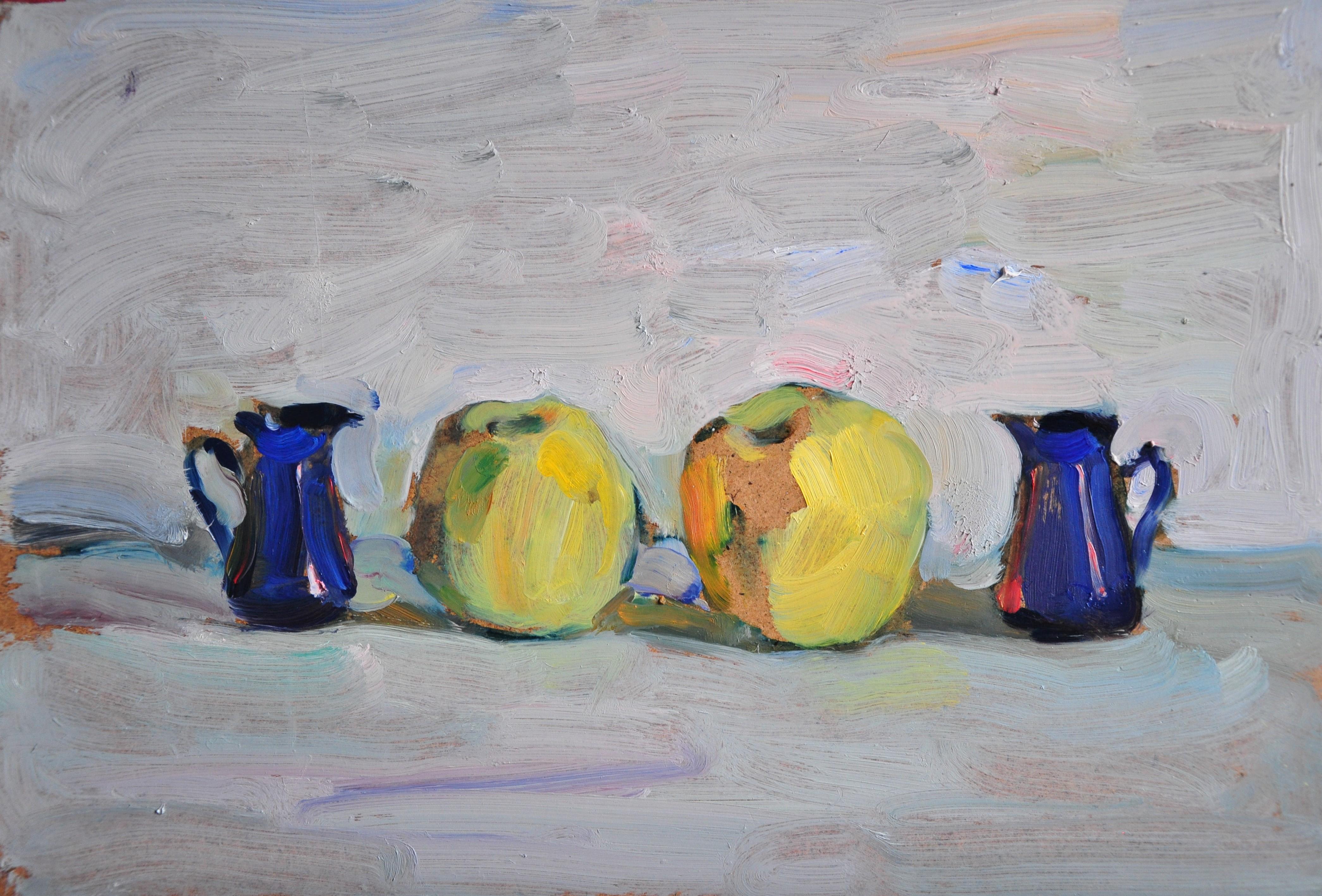 Two Blue Two Yellow - Yaroslava Tichshenko 21st Century Contemporary Painting