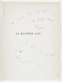 "original drawing "" Tête d'homme de profil "". "" head of a man ""  "". certified ."
