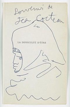 "original drawing "" Tête de chevalier  ""."" night's head in profile "".certified ."