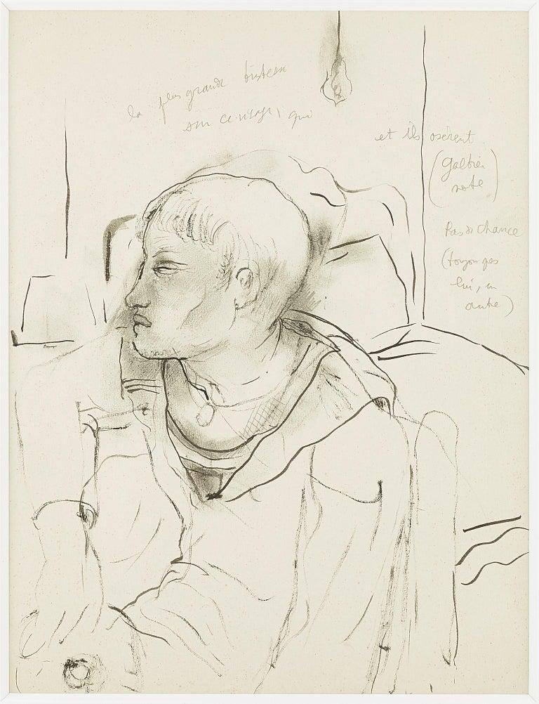 "Jean Cocteau Portrait - original drawing "" sailor  ""."" No Chance "" exceptionnel tattoo .certified ."