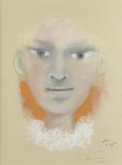 L'adolescent by Jean Cocteau, Pastel on Paper