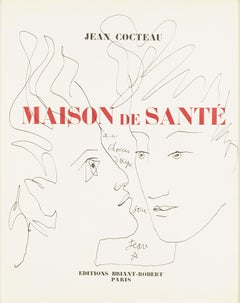 """"""" double face  """" original drawing by Jean Cocteau . certified"""