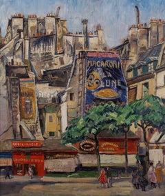 'La Lune-Macaroni'. A Street Scene, Montmartre, Paris