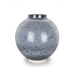 Albert Montserrat, Bronze Dotted Jar, Oil Spot and Glazed Thrown Porcelain