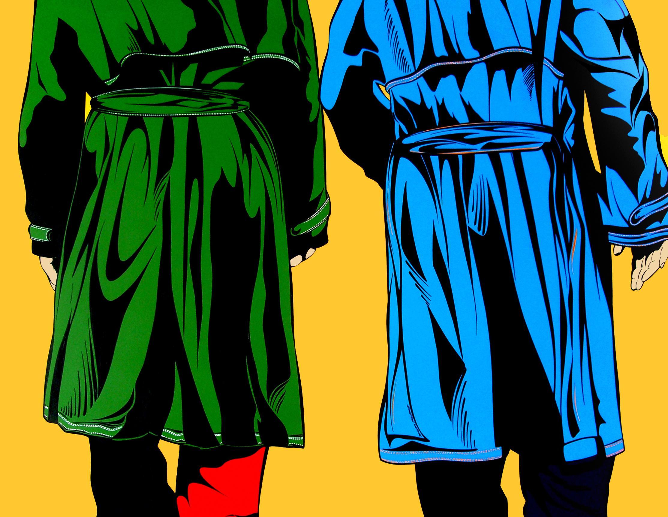 Deborah Azzopardi, Mayfair Trenchcoats, Acrylic On Board