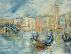 Tüema Pattie, Venice Grand Canal, Oil painting