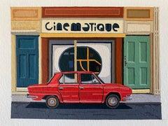 Andy Burgess, Cinematique, Gouache on Watercolour Paper