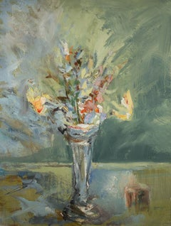 Tuëma Pattie, Bouquet, Oil On Card
