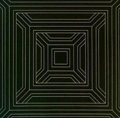 """""""February"""" 1969 Silkscreen Op-Art Abstract Mid Century Original"""