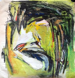 Mid Century Abstract Expressionism Painting Bay Area Artist