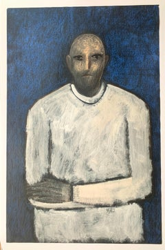 """""""Arms Crossed in Front"""" American Modernist Figurative Painting CA Artist"""