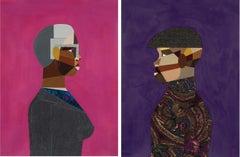 Pair: Interior Life (Man) & (Woman) by Derrick Adams