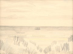 Bord de Mer, Jean Brusselmans (Seaside Drawing)