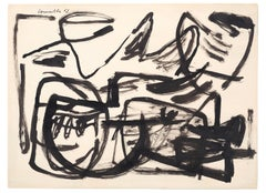 Untitled, Corneille, 1952 (Expressionist Abstract Ink Painting)